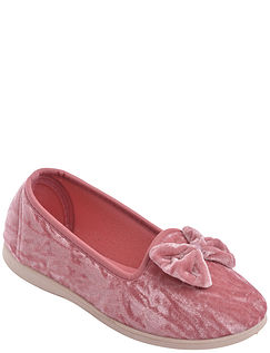 Dunlop Velour Slipper With Slip Resistant Sole