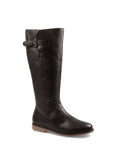 Leather Zip Boot with Thermal Lining