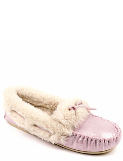 Dunlop Thermal Lined Moccasin Slipper