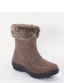 Front Zip Nylon Boot Clorisa