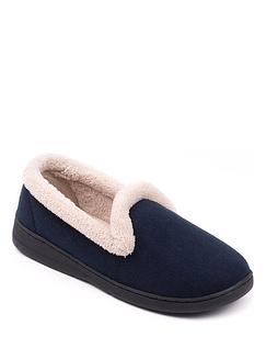 Velour Fleece Lined Slippers