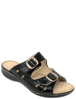 Cushion Walk Buckle Mule