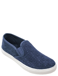 Broderie Anglais Slip On Shoe