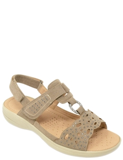 Cushion Walk Diamante Cutwork Sandal