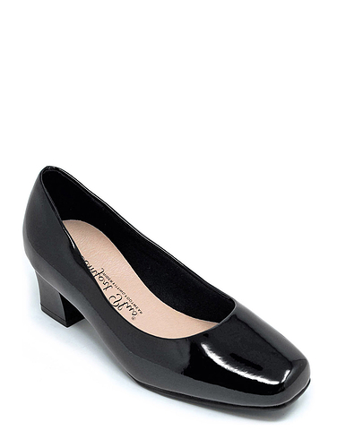 Square Heel Comfort Plus Court Shoe By Karly