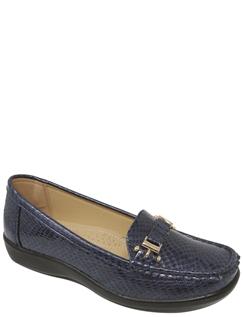 Patent Mock Croc Shoe
