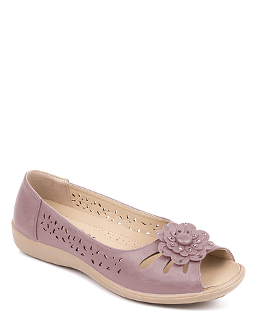 Open Toe Slip On Sandal - PINK