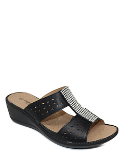 Cushion Walk Diamante Mule