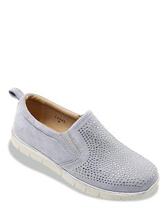 Dr Keller Wide Fitting Diamante Leisure Shoe