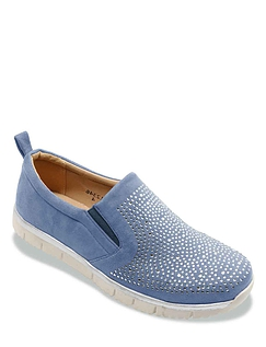 Dr Keller Wide Fitting Diamante Leisure Shoe