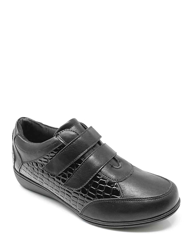 Dr Keller Mock Crock Trim Leisure Shoe  E Fit