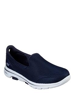Ladies Skechers Wide Fit Go Walk 5 Athletic Air Shoe