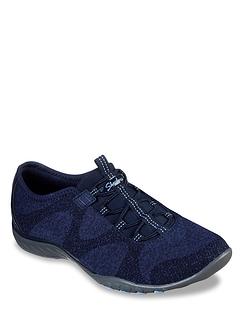 Ladies Skechers Wide Fit Breathe Easy Bungee Shoe