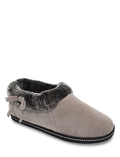 Ladies Faux Trim Bow Detail Slipper Nordic