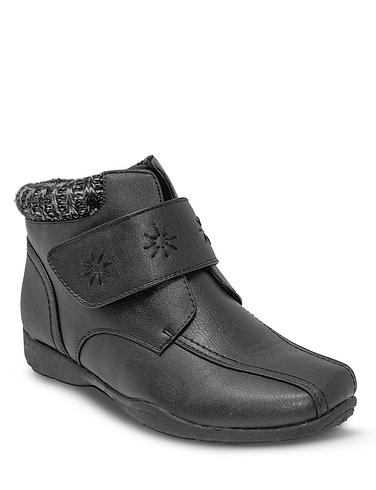 Dr Keller Wide Fit Embroidered Boot