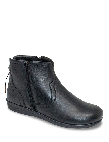 Leather Thermal Lined Twin Zip Boot With Back Tassel