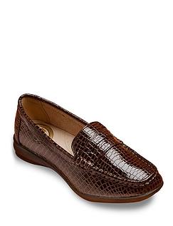 Dr Keller Mock Croc Wide Fit Loafer EEE Fit