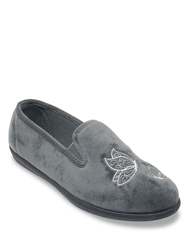Butterfly Embroidered Slipper