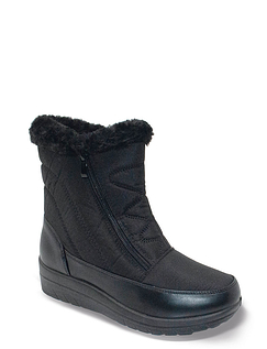 Ladies Twin Zip Faux Fur Lined All Weather Boot Aspen
