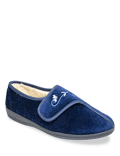 Dr Keller Wide Fit Touch Fasten Slippers