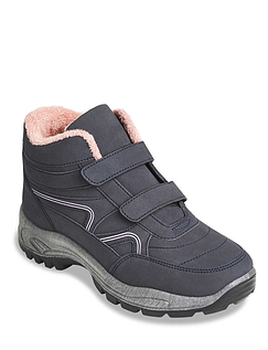 Ladies Fleece Lined Touch Fastening Wide Fit Hiker Boot