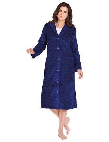 Embossed Fleece Dressing Gown