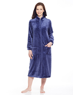 Embossed Fleece Dressing Gown