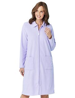 Zip Through Fleece Dressing Gown