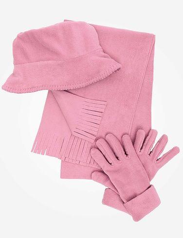 Fleece Hat Scarf & Glove Set
