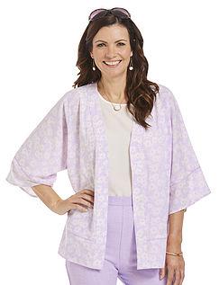 Kimono Blouse With Piping