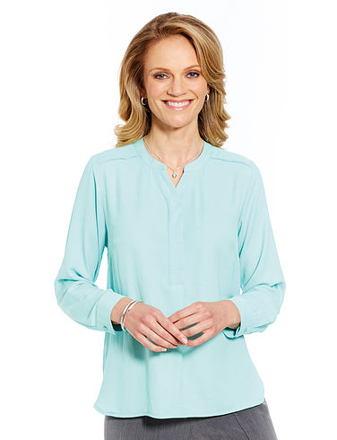 Blouse with Roll Up Sleeve