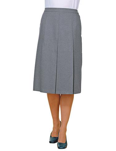 Inverted Pleat Skirt Length 25