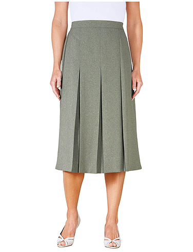 Inverted Pleat Skirt Length 25 Inches