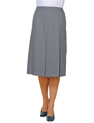 Inverted Pleat Skirt Length 27""