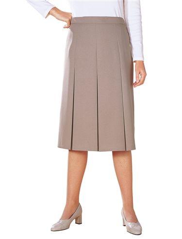 """Inverted Pleat Skirt Length 27"""""""