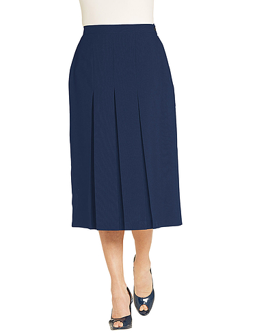 Inverted Pleat Skirt Length 27 Inches