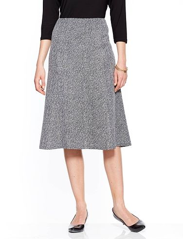 Tweed Effect Skirt 25 Inch Length