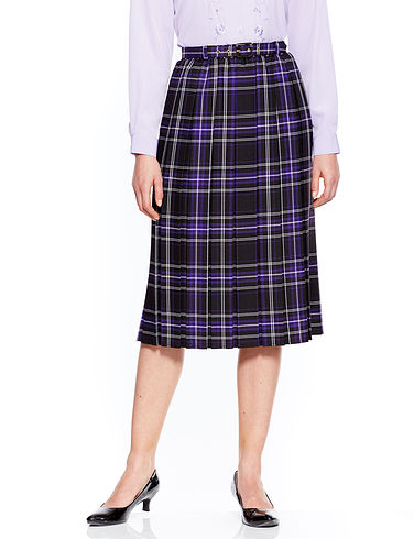 Box Pleat Skirt 25 Inch Length