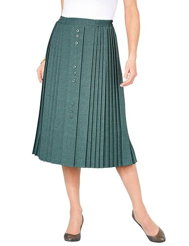 Button Front Skirt 25 Inch Length