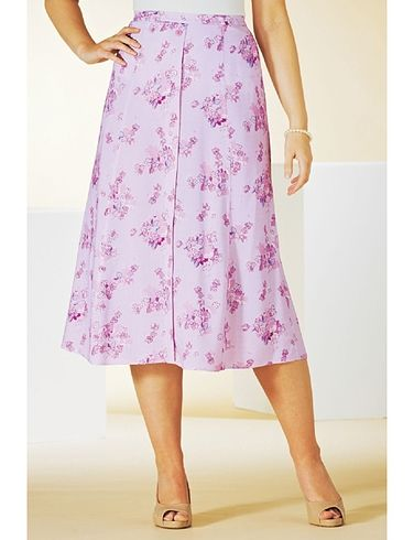 LADIES MOCK BUTTON FRONT SKIRT 25 INCHES