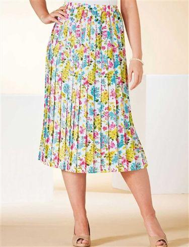 Knife Pleat Skirt Length 27