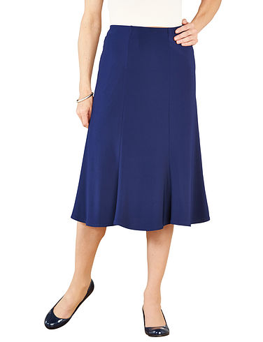 Jersey Panelled Skirt 25 Inch Length