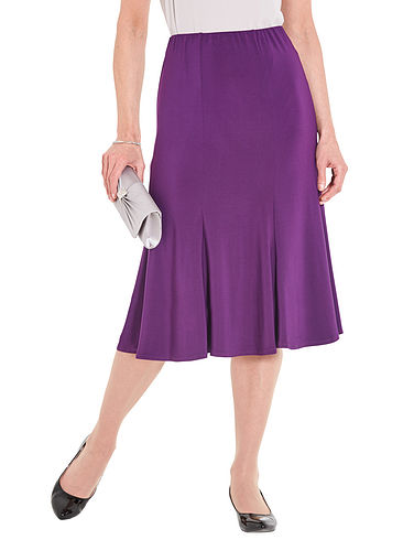 Jersey Panelled Skirt 27 Inch Length