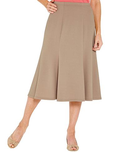 Textured Panelled Skirt