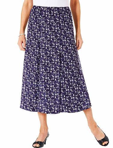 Floral Print Chiffon Skirt