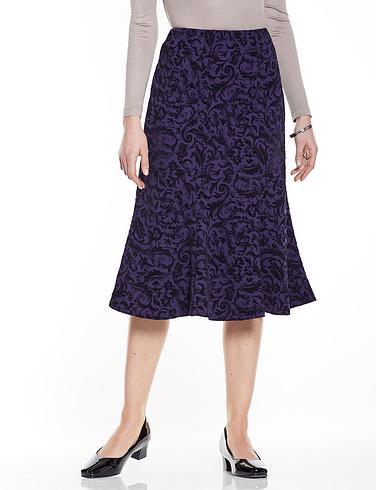 Flocked Jersey Skirt
