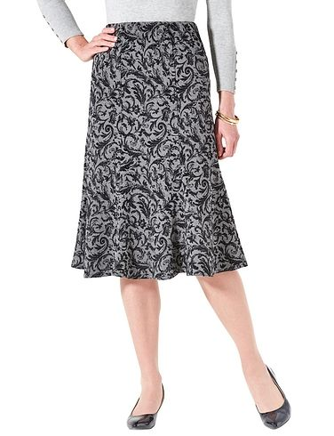 Flocked Jersey Skirt