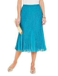 Lace And Chiffon Skirt