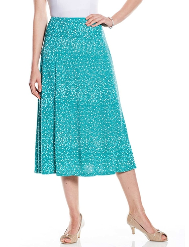 Spot Print Skirt 27 Inches