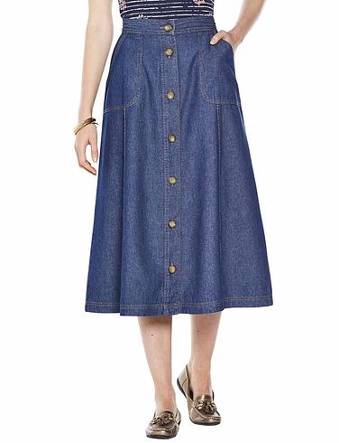 Ladies Button Through Skirt